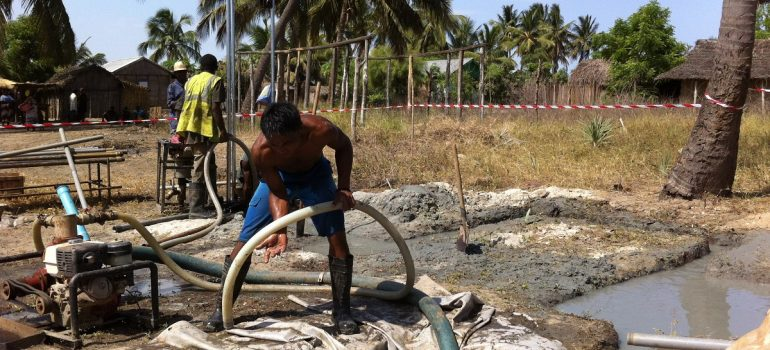 Boreholes drilled in Morondava & fitted with handpumps