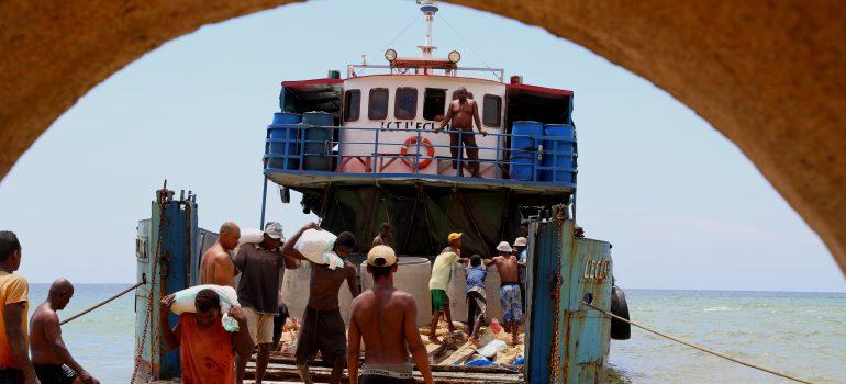 BushProof on sea