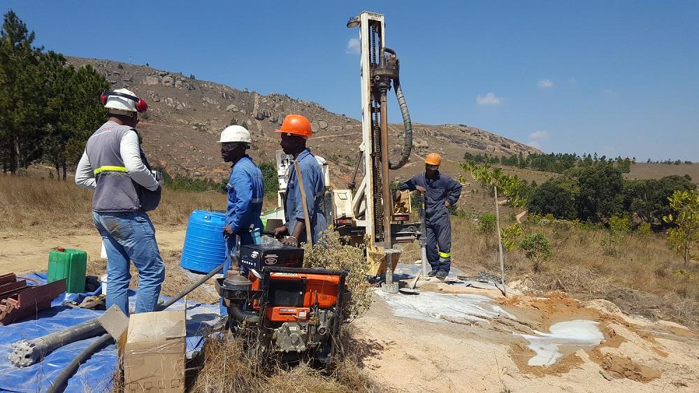 Eau Vive drilling 2017 - 2