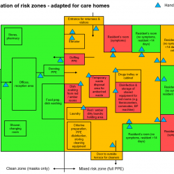 Care Homes Strategy for Infection Prevention & Control of Covid-19 Based on Clear Delineation of Risk Zones